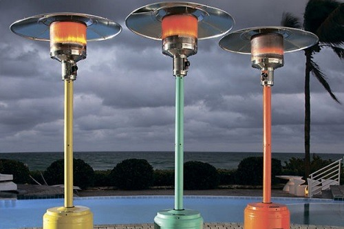 Three Different Color Patio Heaters