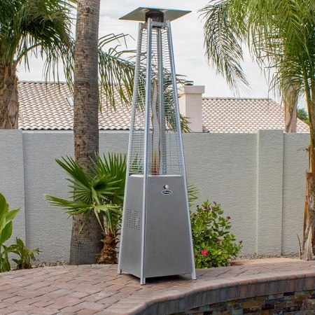 HLDS01-GTSS Quartz Glass Tube Patio Heater Next To Pool
