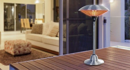 AZ Patio Heaters Tabletop Patio Heater On Table
