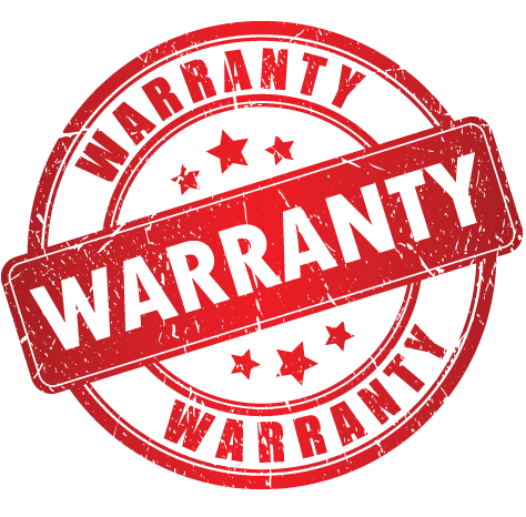 Red Warranty Logo On White Background